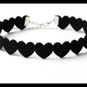 Jewelry - 🍀 SOLID BLACK HEART CHOKER NECKLACE